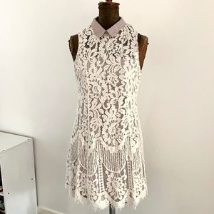 Cream lace 40's inspired Dress by DOTTI   Size 10 NWT